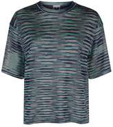 M Missoni Knitted Stripe Print T-Shirt