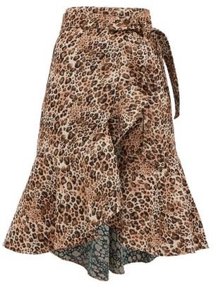 Johanna Ortiz Cynical Attitude Leopard-jacquard Wrap Skirt - Leopard