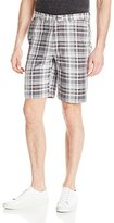 Haggar Men's Cool 18 Expandable-Waist Multi-Plaid Short