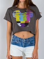 Junk Food Clothing Mickey Mouse Tv Cropped Tee-pepp-xl