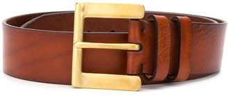 Paul Smith Leather Buckled Belt