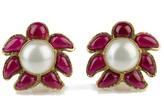 Chanel 94P Gripoix Pearl Earrings