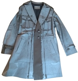 Trussardi Grey Leather Trench Coat for Women
