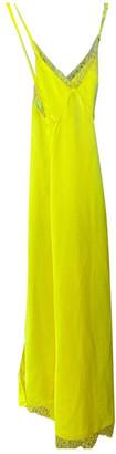 Off-White Yellow Silk Dresses