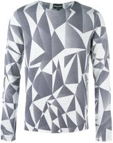 Emporio Armani geometric pattern jumper