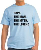 CafePress - Papa The Man. The Myth. The Legend T-Shirt - Unisex Crew Neck Cotton T-Shirt, Comfortable & Soft Classic Tee with Unique Design