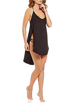 Lucky Brand Coastal Palms Tulip Side Dress Cover-Up