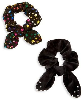 Bari Lynn 2-Piece Hair Scrunchie Set