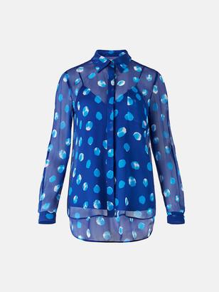 Diane von Furstenberg Lorelei Two Silk-Chiffon Shirt
