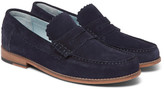 Grenson Ashley Suede Penny Loafers