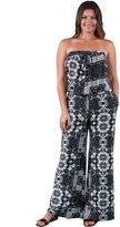 24/7 Comfort Apparel Women's Plus Size Geometric Floral Jumpsuit P526BBP-L