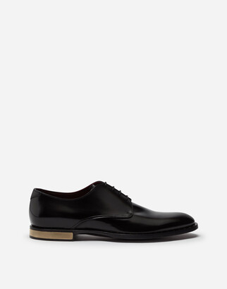 Dolce & Gabbana Brushed Calfskin Derby Shoes
