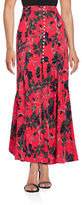 Free People Floral Crepe Maxi Skirt