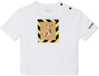 BURBERRY KIDS Deer print T-shirt