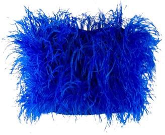 ATTICO feathers strapless top