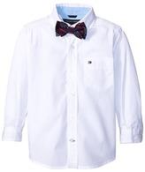 Tommy Hilfiger Kramer Long Sleeve Shirt with Bow Tie (Toddler/Little Kids)