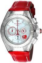 Technomarine Women's Cruise Stainless Steel Quartz Watch with Leather Calfskin Strap red 26 (Model: TM-115312)