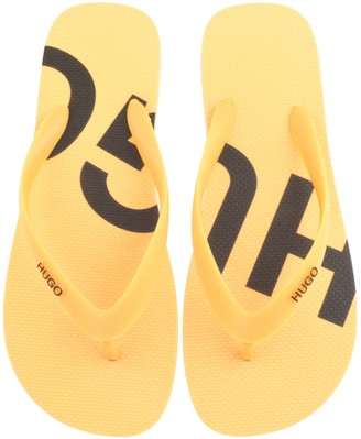 HUGO BOSS On Fire Flip Flops Yellow