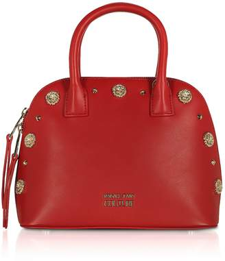 Versace Nappa Fiore Top Handle Bag W/ Studs