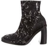 Ann Demeulemeester Metallic Embroidered Ankle Boots