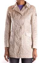 Geospirit Women's Beige Polyamide Coat.