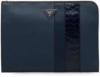 Prada Panelled Logo Document Holder