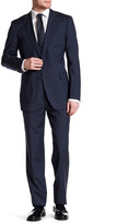 Zanetti Catania Striped Two Button Notch Lapel Trim Fit Wool Suit