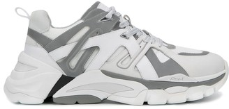 Ash leather panelled sneakers