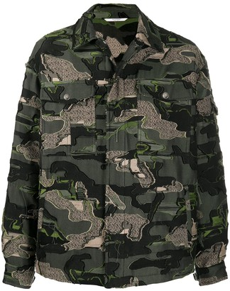 Valentino Camouflage-Pattern Denim Jacket