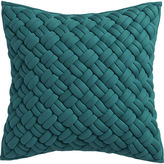 "CB2 Jersey Interknit Green 20"" Pillow With Feather Insert"