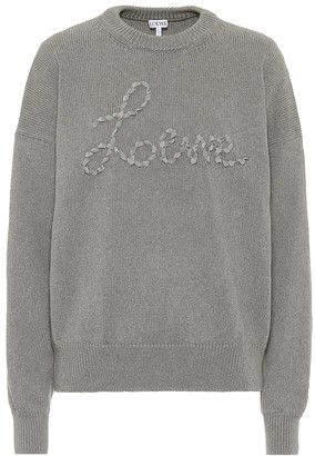 Loewe Embroidered cotton sweater