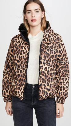 Alice + Olivia Durham PR Reversible Hooded Puffer Coat