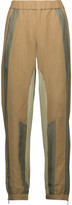 Belstaff Blake silk satin-trimmed twill and crepe straight-leg pants