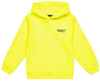 Balenciaga Kids Logo cotton hoodie
