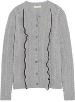 Chinti and Parker Aran Cable-Knit Wool And Cashmere-Blend Cardigan