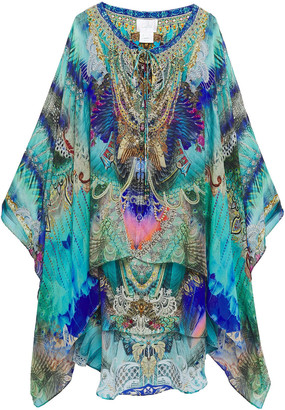 Camilla Layered Printed Silk Crepe De Chine And Chiffon Coverup