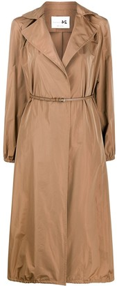 Manzoni 24 A-line belted waist trench coat