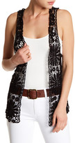 Betsey Johnson Daisy Crochet Vest