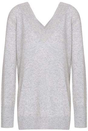 Equipment Woman Linden Melange Cashmere Sweater Light Gray Size XS