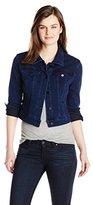 Liverpool Jeans Company Liverpool Women's Classic Cropped Jacket in Powerflex Knit Denim