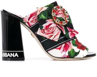 Dolce & Gabbana Floral Print Mules