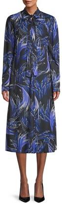 Givenchy Tie-Neck Print Dress
