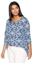 Lucky Brand Women's Plus Size Print Top