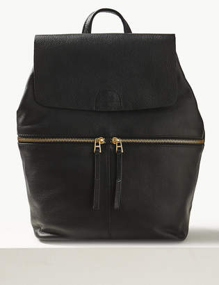 M&S CollectionMarks and Spencer Leather Backpack Bag