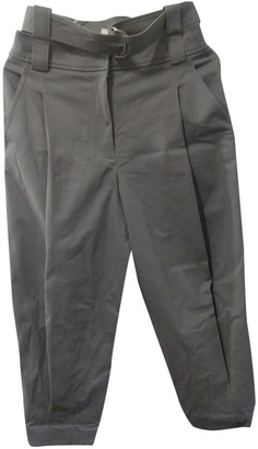 Tibi Grey Cloth Trousers for Women