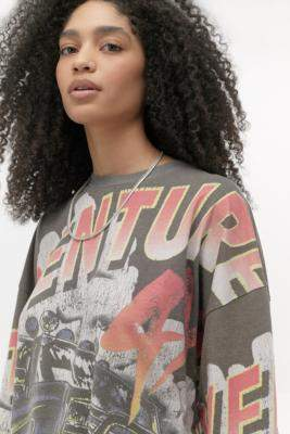 Urban Outfitters Adventure Long Sleeve Skate T-Shirt - black XS at