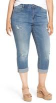 Melissa McCarthy Plus Size Women's Stretch Crop Girlfriend Jeans