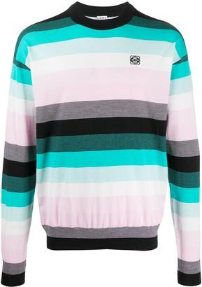 Loewe Logo-Embroidered Striped Sweater