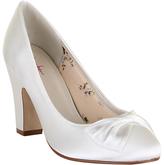Rainbow Club Dinah Block Heeled Court Shoes, Ivory Satin