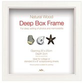Camilla And Marc Innova Editions 7.5 x 7.5 cm/ 3 x 3-inch Box Frame, White
